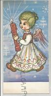 Ange Et Cierge Dans Un Décor De Noël. Dessin De Arnulf - Anges
