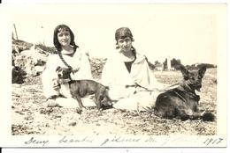 """CARTE PHOTO NON SITUEE (83 ?). """"DEUX BEAUTES GITANES DU GOLFE"""" - Fotografia"""