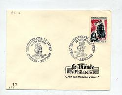 Lettre  Cachet Saint Denis Tricentenaire Peuplement - Reunion Island (1852-1975)
