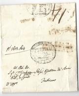 DA MACERATA A FABRIANO - 31.5.1837 - INTERESSANTE TASSAZIONE. - Italia