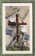 AR39 Greetings - Easter Greeting, Cross, Flowers - Easter