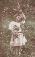 AR39 Children - Young Girl In A Garden With Blossom - Children And Family Groups