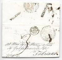 DA ARCEVIA A FABRIANO - 24.10.1856. - Italia