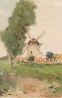 AL63 Landscape With Windmill - Artist Drawn, UB - Windmills