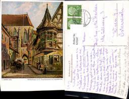 623247,Künstler Ak L. Mößler Rothenburg Ob Der Tauber Feuerleinserker M. Jakobskirche - Deutschland