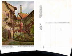623246,Künstler Ak Paul Sollmann Rothenburg Ob Der Tauber Hof D. Marienapotheke - Deutschland