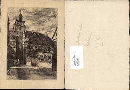 623245,Radierung Rothenburg Ob Der Tauber Ansicht M. Klingentor - Deutschland