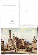 623243,Künstler Ak L. Mößler Rothenburg Ob Der Tauber Rathaus M. Postkutsche - Deutschland