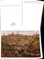 623242,Künstler Ak Paul Sollmann Blick Auf Rothenburg Ob Der Tauber - Deutschland