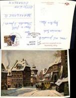623240,Künstler Ak L. Mößler Nürnberg Wintermorgen Postkutsche - Deutschland