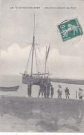 Cpa -35-le Vivier Sur Mer-animée-navire Sortant Du Port- - Autres Communes