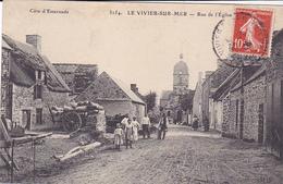 Cpa -35-le Vivier Sur Mer-animée-rue De L'eglise-edi ....n°3154 - Autres Communes