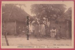 AFRIQUE OCCIDENTALE---SENEGAL--Scéne Du Village Négre---animé-- - Senegal