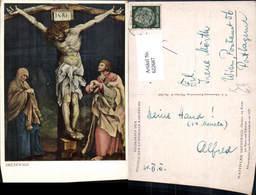 622687,Künstler Ak Matthias Grünewald Christus A. Kreuz M. Maria U. Johannes Religion - Christentum