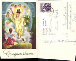 622684,Künstler Ak Jesus Engel Ostern Gonfanon Religion - Christentum