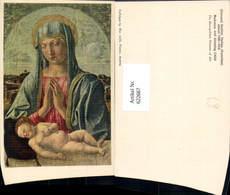 622667,Künstler Ak Giovanni Bellini Madonna And Sleeping Child Jesuskind Religion - Christentum