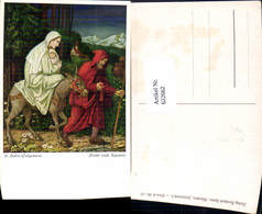 622662,Künstler Ak H. Huber-Sulzemoos Flucht N. Ägypten Heilige Familie Esel Religion - Christentum