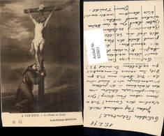 622651,Künstler Ak A. Van Dyck Le Christ En Croix Jesus A. Kreuz Mönch Religion - Christentum