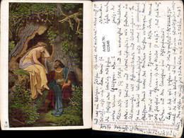 622648,Künstler Ak M. V. Schwind König Krokus U. D. Waldnymphe Religion Pub F. A. Ack - Christentum