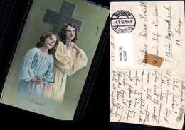 622647,Kreuz Kinder Mädchen Glaube Stempel Wacken Kr. Rendsburg Feldpost Religion - Christentum