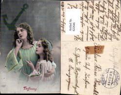 622646,Anker Frau Mädchen Hoffnung Religion Stempel Wacken Kr. Rendsburg Feldpost - Christentum