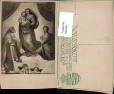 622640,Künstler Ak Raphael Die Sixtinische Madonna Religion - Christentum