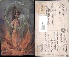 622605,Künstler Ak Ejhle Kaciri Jesus Heiligenschein Dornenkranz Religion - Christentum