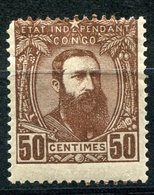 CONGO BELGE COB N°9 * LEOPOLD II DE TROIS QUARTS A DROITE - 1884-1894 Vorläufer & Leopold II.