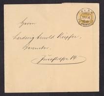 Switzerland: Stationery Wrapper, 1908, Cancel Bern Fil. Kramgasse (traces Of Use) - Brieven En Documenten