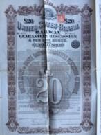 United States Of Brazil Railway 4 % Bond 1905 . Obligation De 20 Livres Chemin De Fer Du Brésil . - Chemin De Fer & Tramway