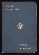 PASSPORT - PASSEPORT - PASAPORTE- PASSAPORTO - URUGUAY  - 1927 - MANY VISAS - REVENUE - Documentos Históricos