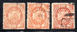 APR1820 - BOLIVIA 1894 , 100 Cent Yvert N. 45 : Tre Nuance Usate - Bolivia