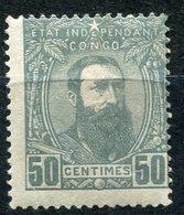 CONGO BELGE COB N°10 * LEOPOLD II DE TROIS QUARTS A DROITE - 1884-1894 Vorläufer & Leopold II.