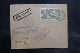 MADAGASCAR - Enveloppe 1er Vol Tananarive / Lourenço Marqués En 1947 , Affranchissement Plaisant - L 34813 - Madagascar (1889-1960)