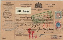 1912, Paketkarte In Die Schweiz , 9279 - Periode 1891-1948 (Wilhelmina)