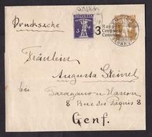Switzerland: Stationery Wrapper, 1916, Value Overprint, Extra Stamp, Cancel Zurich Bahnhof (damaged: Folds) - Brieven En Documenten