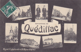 Cpa - 35 - Quedillac --souvenir De ...-photo Mignot (st Meen ) - Other Municipalities