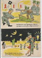"""Soldats Allemands Au Tir Et En Soirée:"""" Im Schiessen Zeigt Sich Mancher Meister..."""" - Humoristiques"""