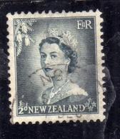 NEW ZEALAND NUOVA ZELANDA 1953 1957 QUEEN ELIZABETH II REGINA ELISABETTA PENNY 1/2p USATO USED OBLITERE' - Nuova Zelanda