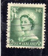 NEW ZEALAND NUOVA ZELANDA 1953 1957 QUEEN ELIZABETH II REGINA ELISABETTA PENCE 2p USATO USED OBLITERE' - Nuova Zelanda