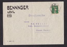 Switzerland: Cover, 1930, 1 Stamp, Cancel Uzwil (damaged: Fold) - Brieven En Documenten