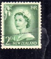 NEW ZEALAND NUOVA ZELANDA 1955 1959 QUEEN ELIZABETH II REGINA ELISABETTA PENCE 2p USATO USED OBLITERE' - Nuova Zelanda
