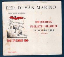 S.Marino 1960 --Folder OLIMPIADI DI ROMA '60 -- - Blocchi & Foglietti