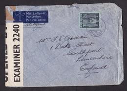 Switzerland: Airmail Cover To UK, 1943, 1 Stamp, Via Stuttgart, Censored, British Censor Label (damaged, See Scan) - Zwitserland