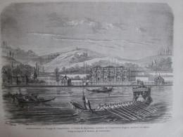 Gravure  1869   Constantinople   Voyage De L Impératrice   Palais Du Beylerbey  Résidence Turquie - Old Paper