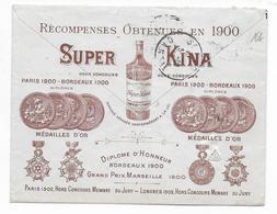 1910 - ENVELOPPE PUB ILLUSTREE De AURILLAC (CANTAL) => ST FLOUR - ALCOOL / DISTILLERIE - 1877-1920: Semi Modern Period
