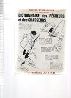 MARCEL E GRANCHER ILLUSTRATIONS GAD  DICTIONNAIRE DES PECHEURS ET DES CHASSEURS 1965 - Boeken, Tijdschriften, Stripverhalen