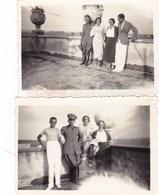 LADISPOLI - ROMA  LOTTO DI 2 FOTO DEL 1934 CON UFFICIALE E CON DIDASCALIA - Luoghi