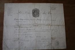 Diplome Au Nom Du Roi 1818decoration Du Lis - Documentos Históricos