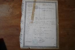 Passeport Modifié   1849  Bourbourg  Autographe - Documenti Storici